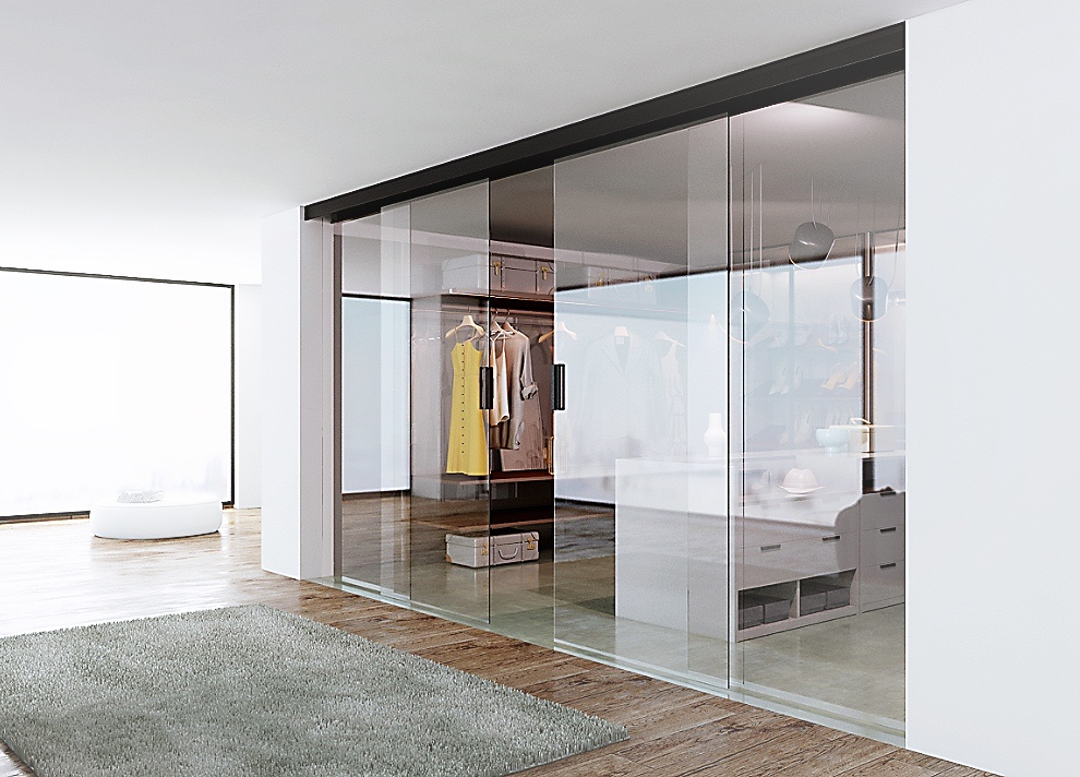 OPK Smart magnetic drive sliding doors with app and touch control